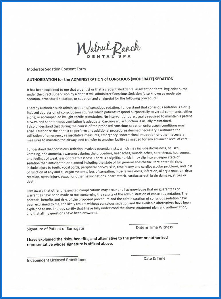 Dental Extraction Consent Form