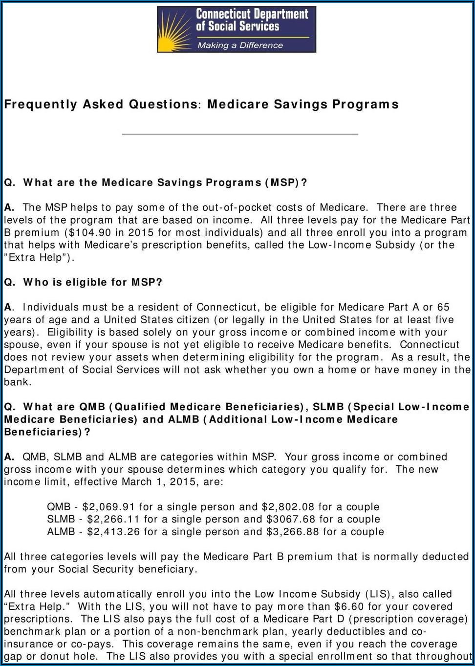 Dss Ct Medicare Savings Program Application