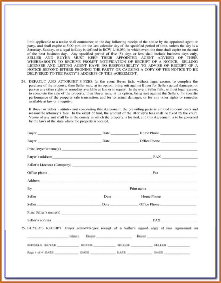 Earnest Money Agreement Form Oregon