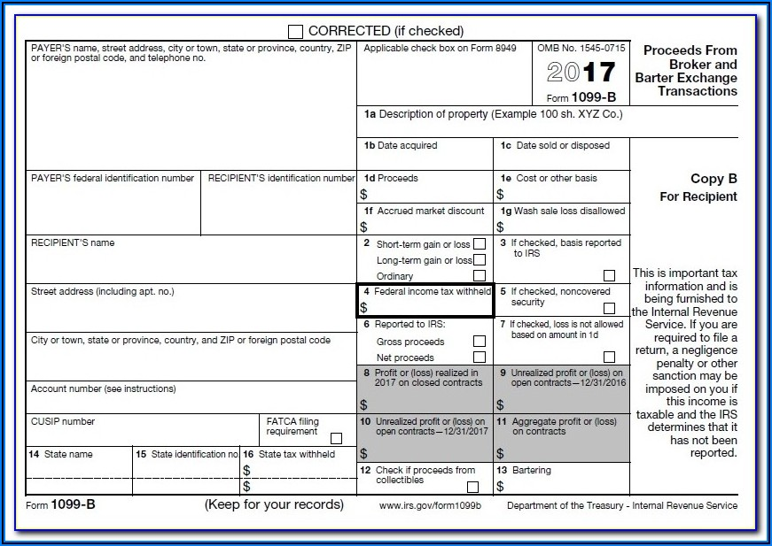 Editable 1099 Form