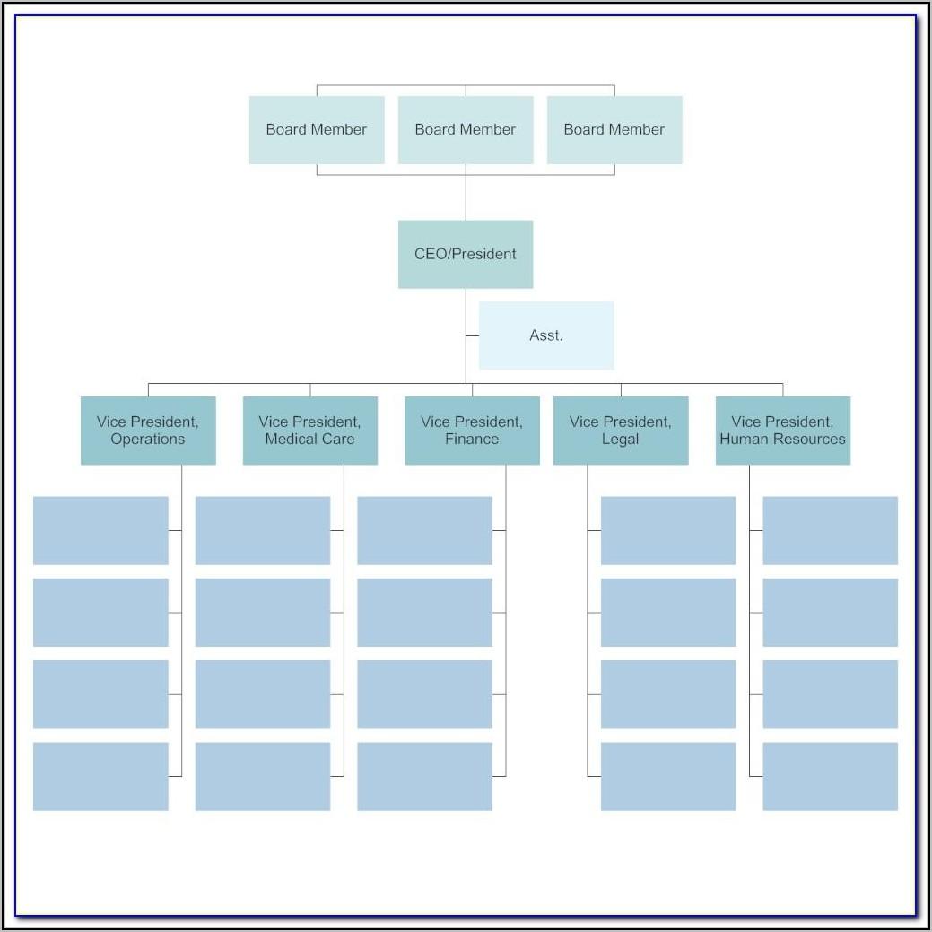 Editable Downloadable Organizational Chart Template