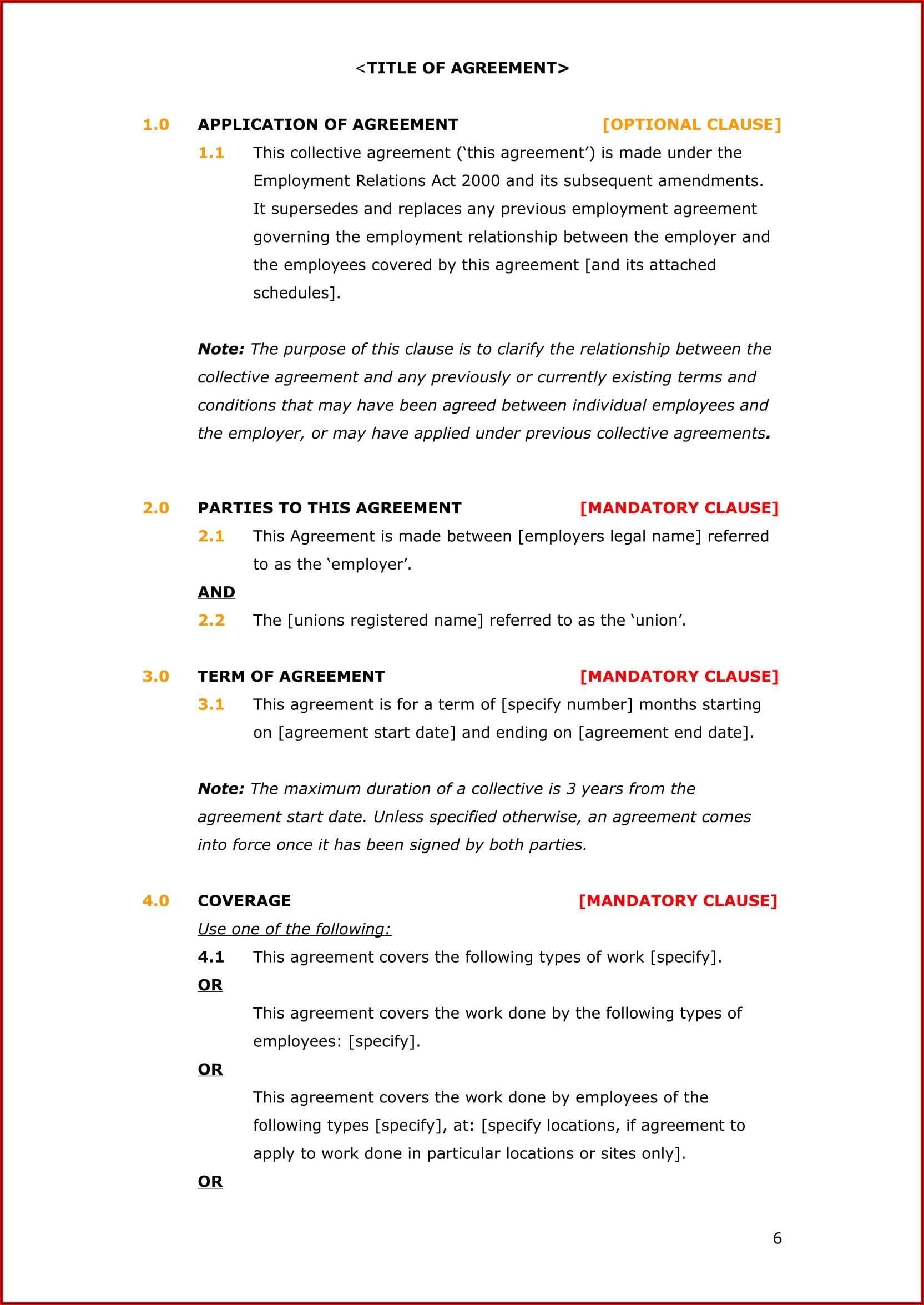 Employment Contract Amendment Template Nz