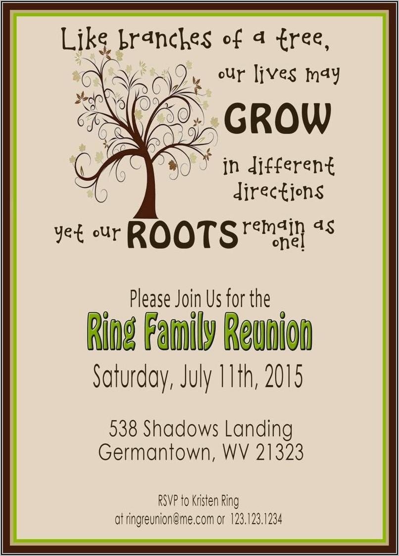 Family Reunion Invitations Templates