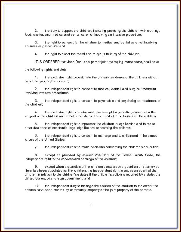 Final Decree Of Divorce Form