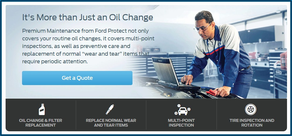 Ford Protect Premium Maintenance Plan Brochure