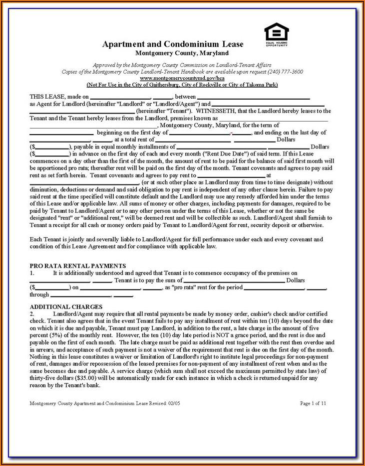 Form 68 Lease Rental Agreement Washington State