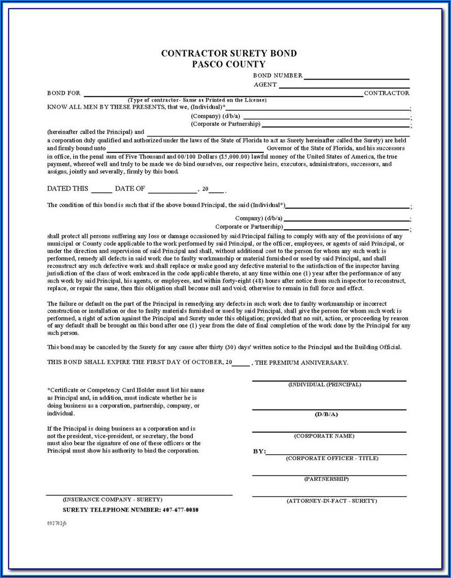 Form Bmc 84 Broker Surety Bond