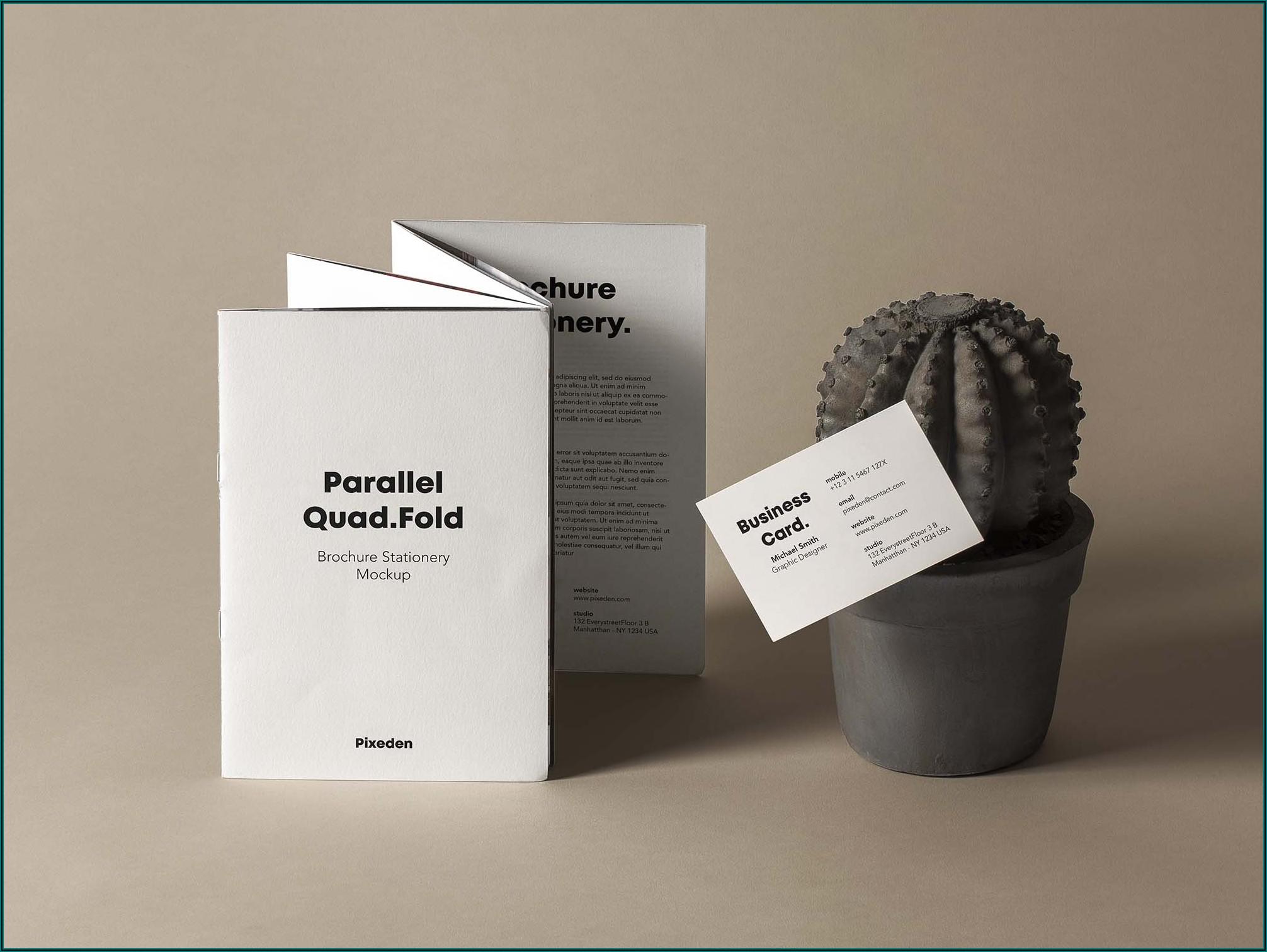 Four Fold Brochure Mockup Free Download