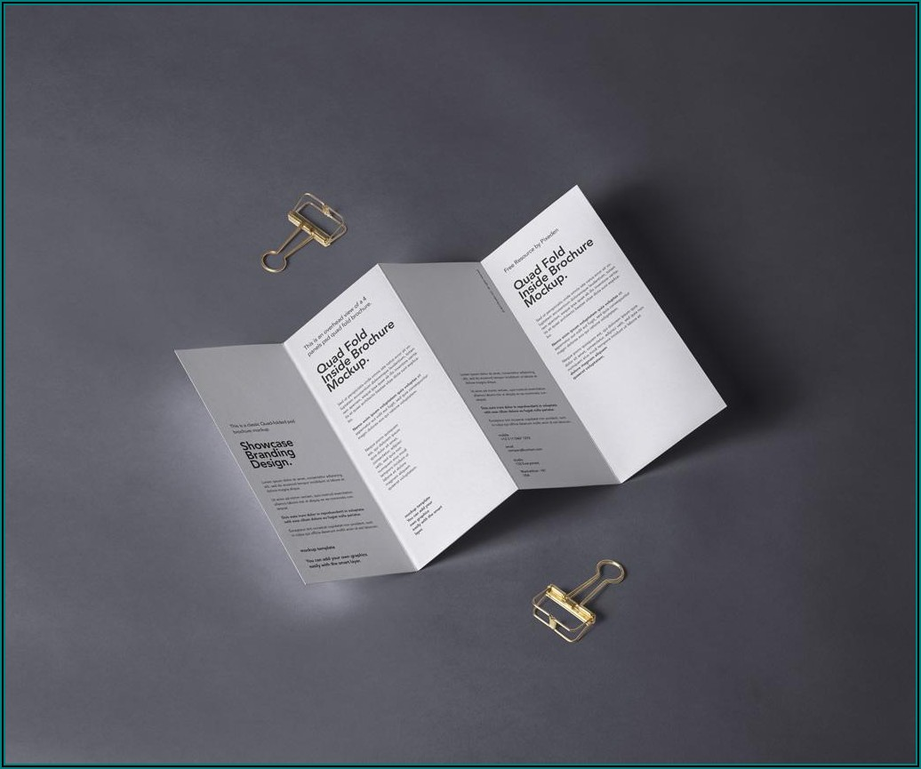 Four Fold Brochure Mockup Free
