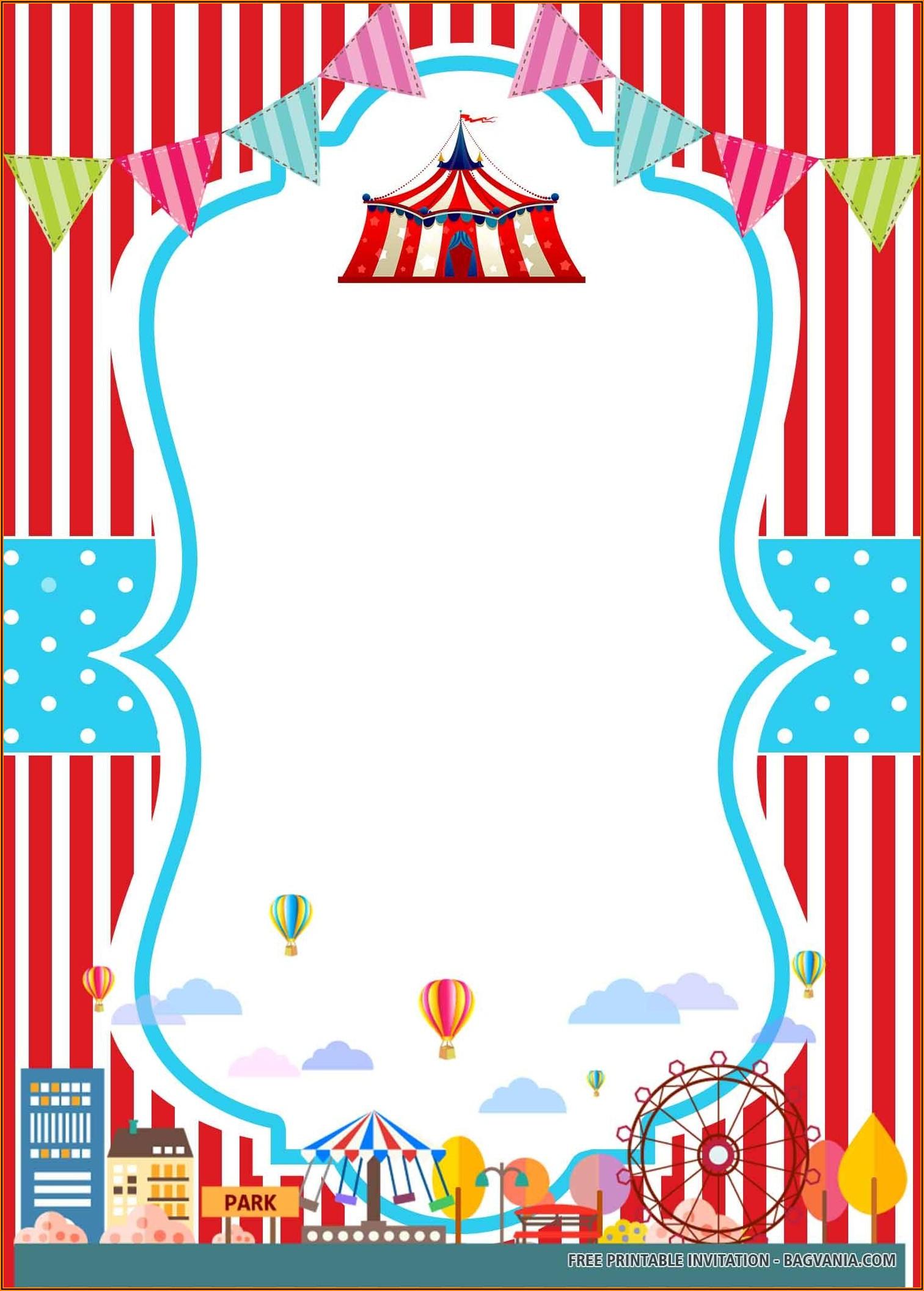 Free Circus Party Invitation Templates