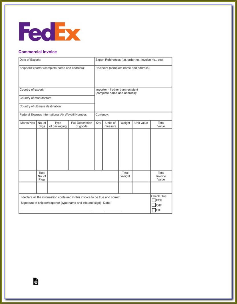 Free Commercial Invoice Template Uk