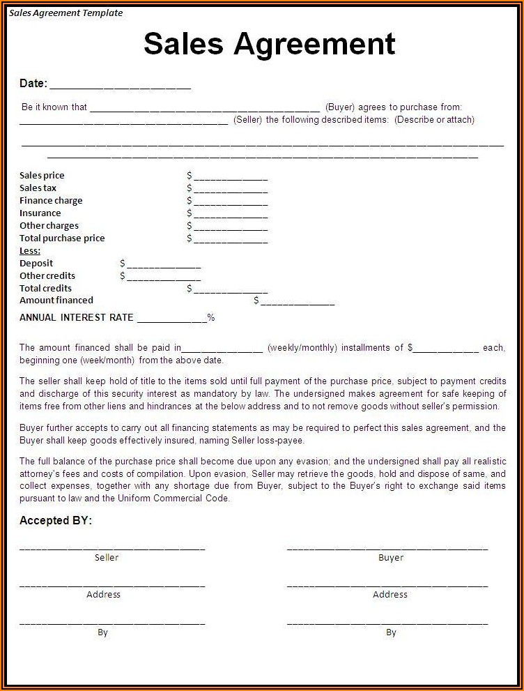 Free Commercial Truck Lease Agreement Form