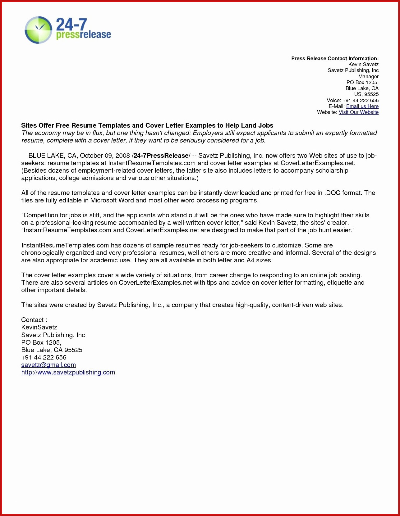 Free Cover Letter Template Download Word