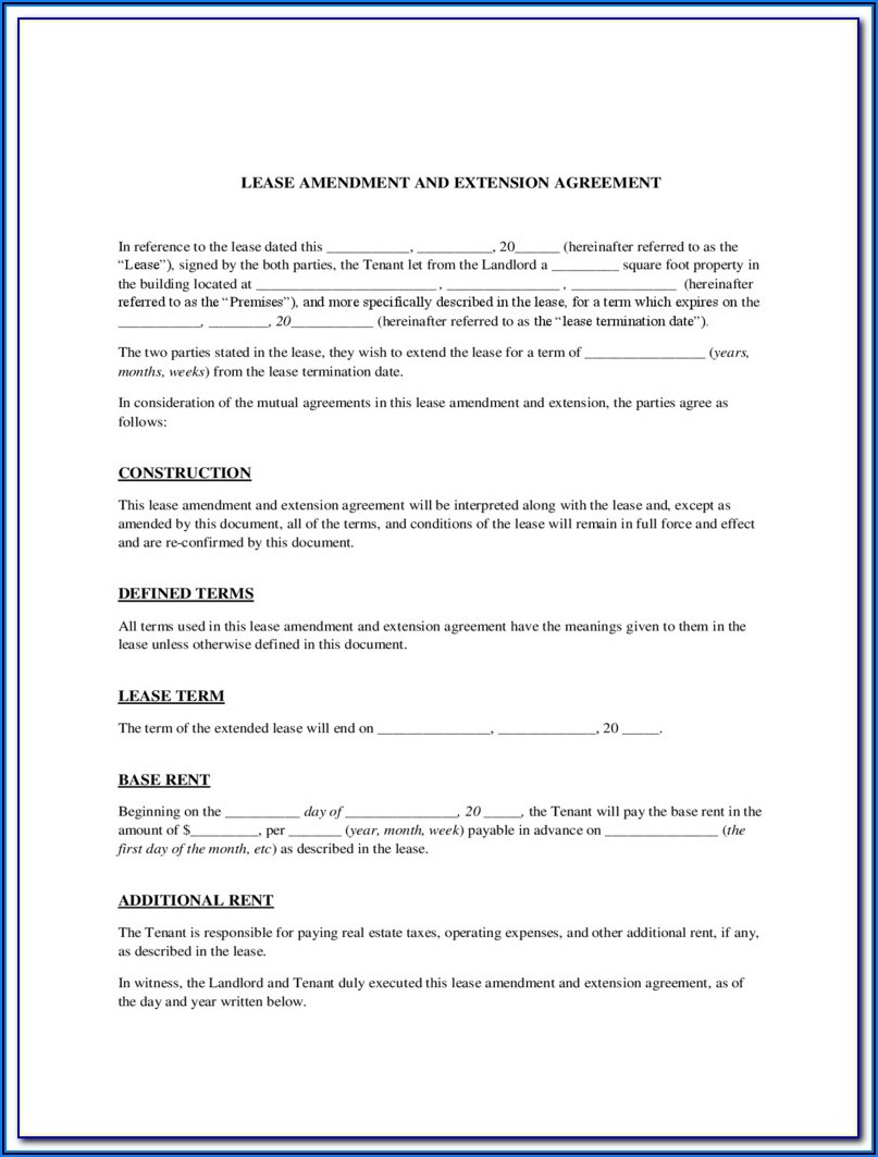 Free Lease Renewal Form California