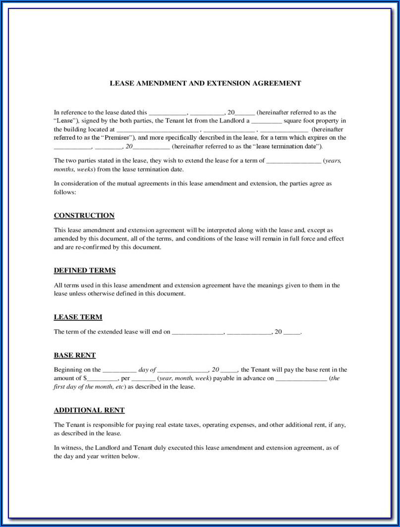 Free Lease Renewal Form Pdf