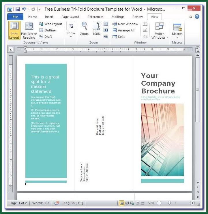 Free Microsoft Brochure Templates