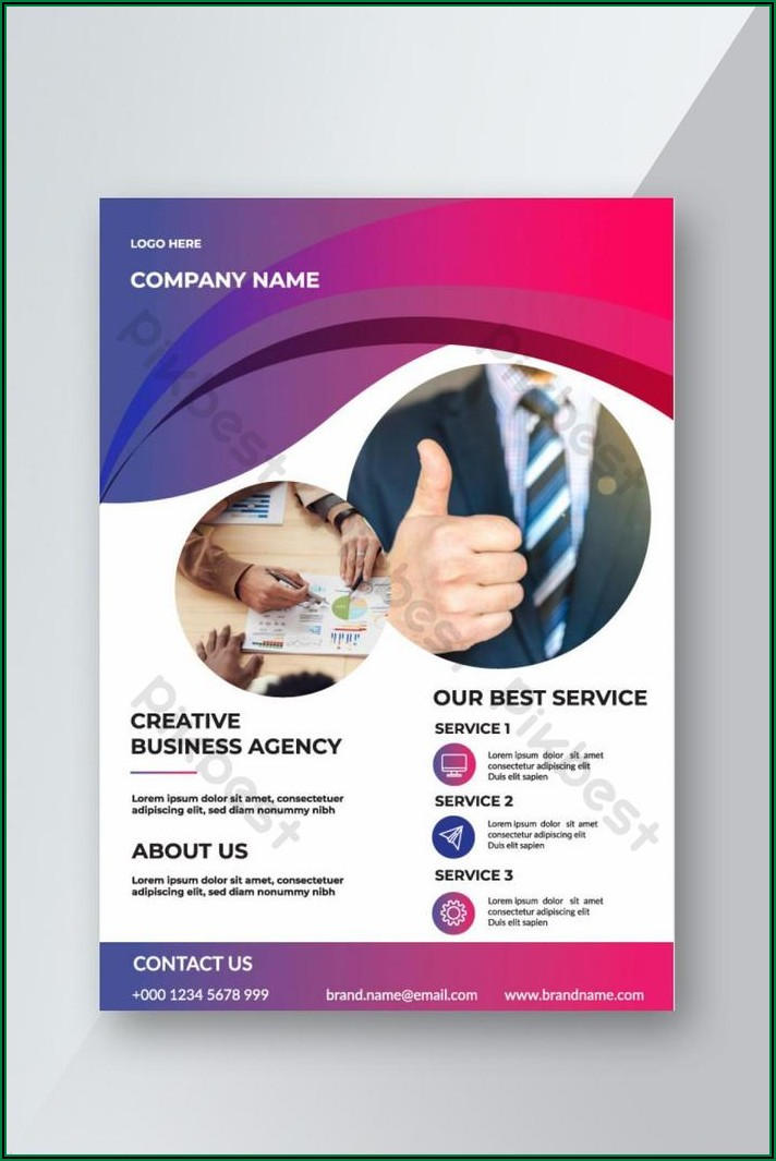 Free One Page Marketing Brochure Templates
