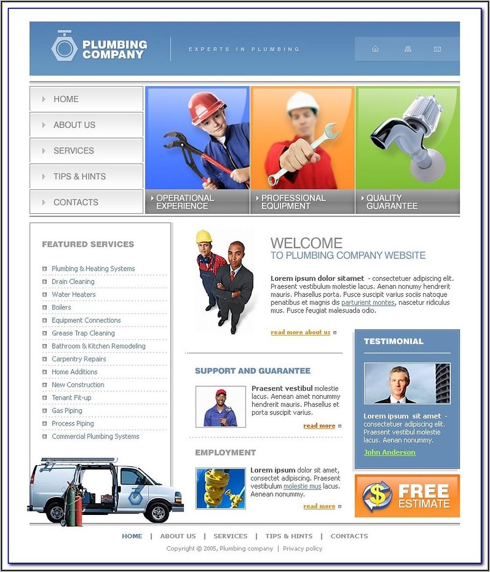 Free Plumbing Website Templates Download