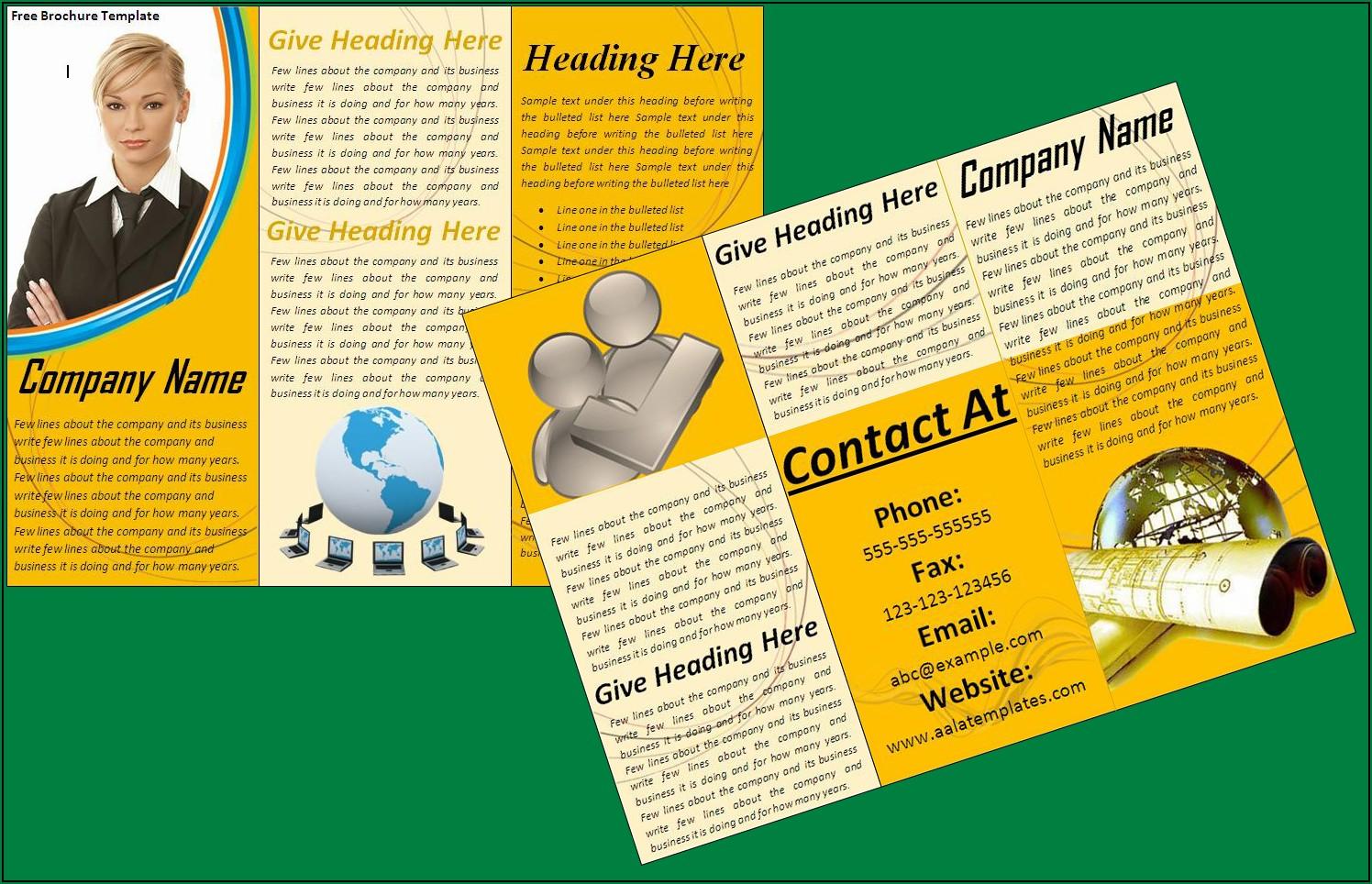 Free Sample Brochure Design Templates