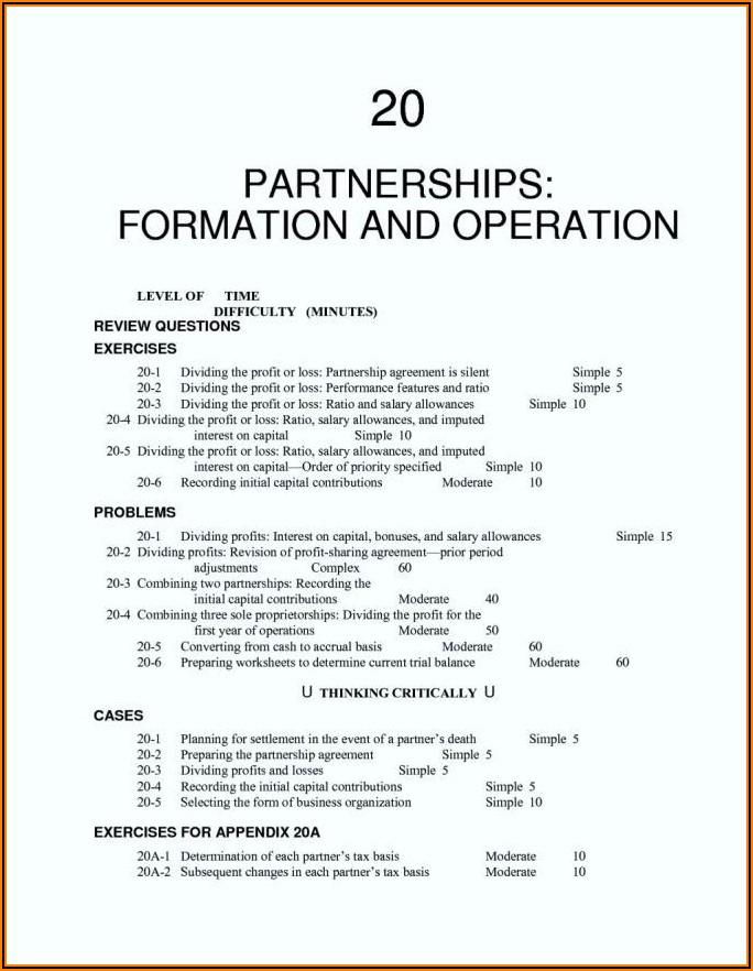 Free Silent Partnership Agreement Template