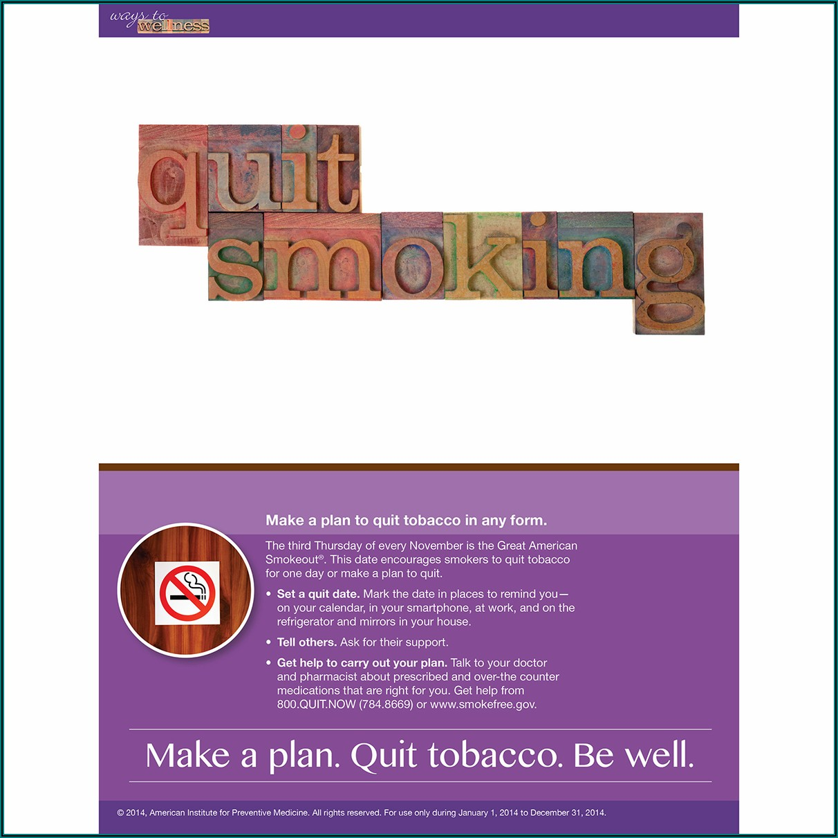 Free Smoking Cessation Pamphlets