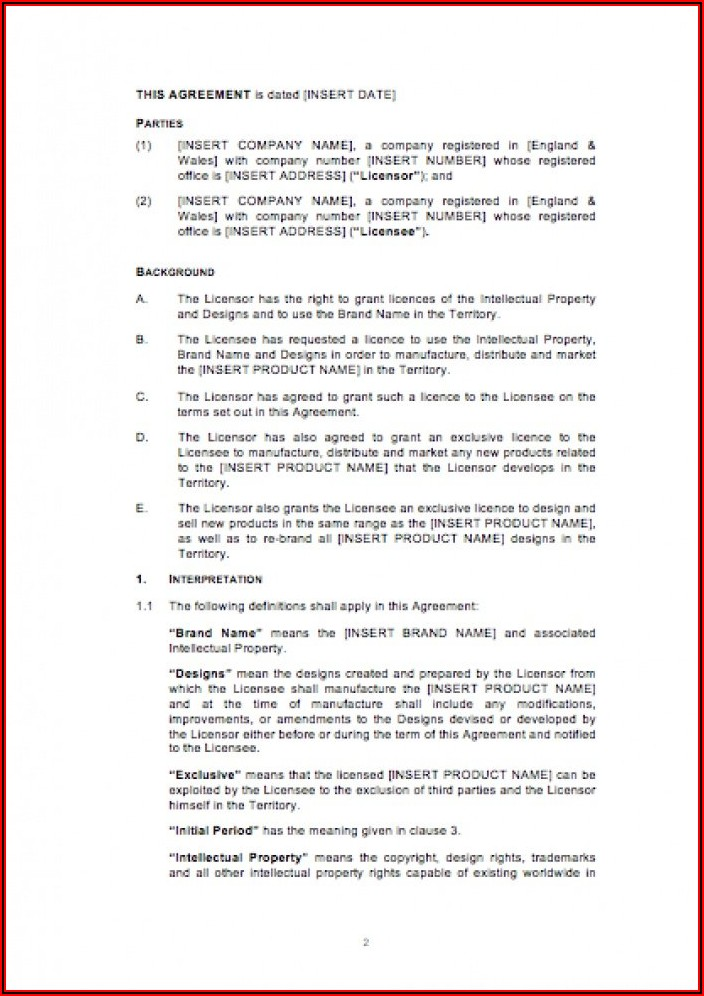 Free Software License Agreement Template Uk