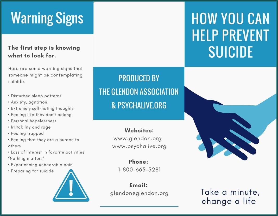 Free Suicide Prevention Brochures
