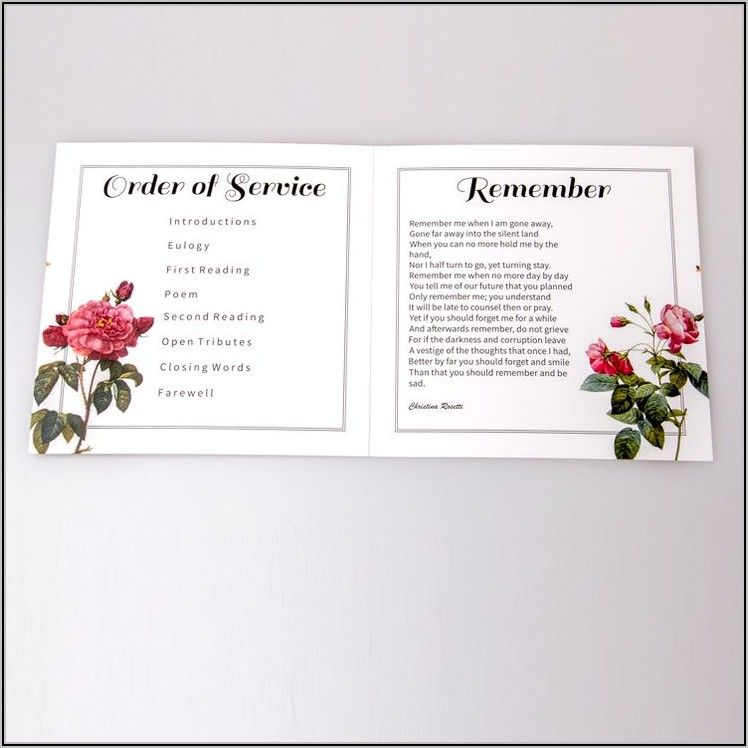 Funeral Stationery Templates Free