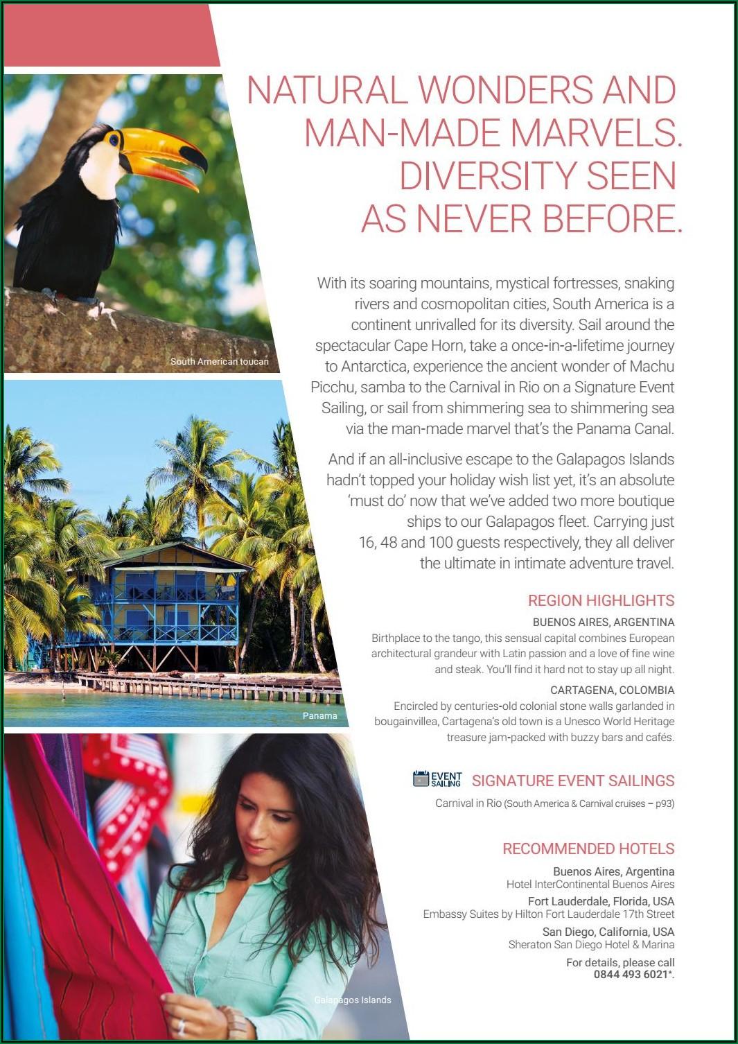 Galapagos Islands Travel Brochure