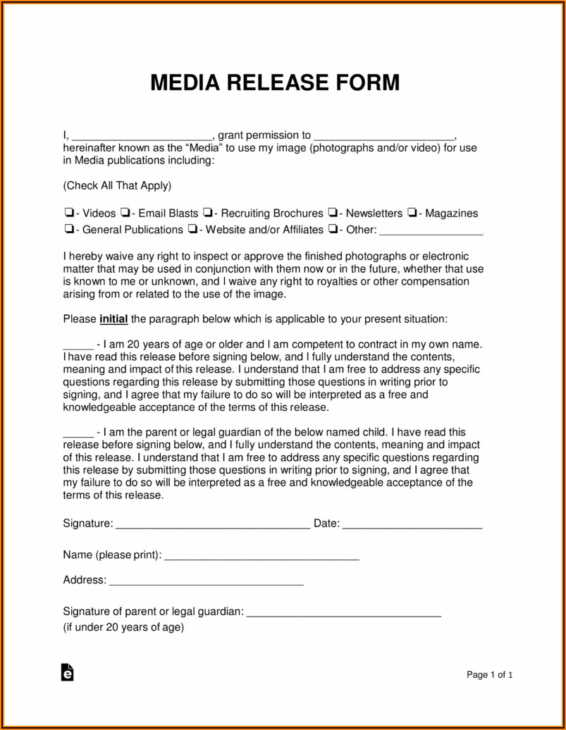 General Photography Consent Form