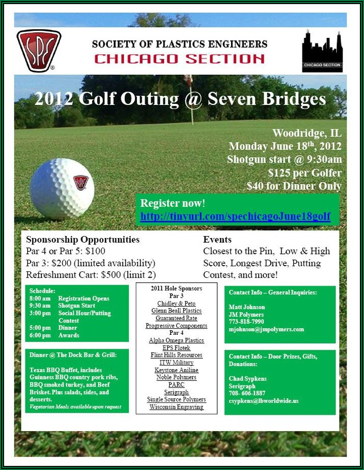 Golf Outing Brochure Ideas