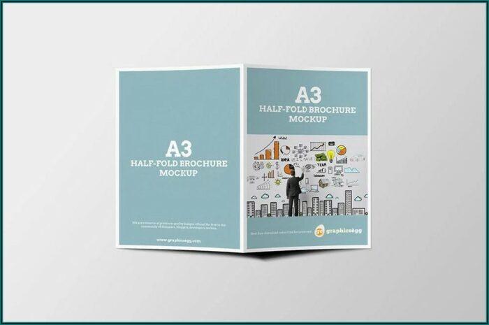 Half Fold Brochure Mockup