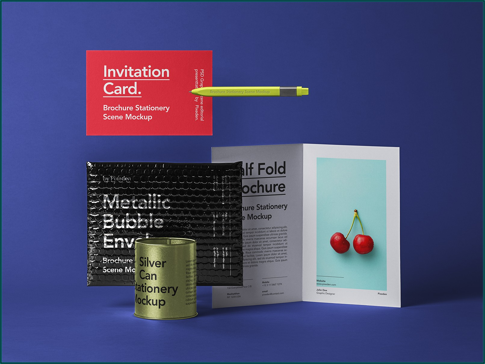 Half Fold Brochure Mockup Free