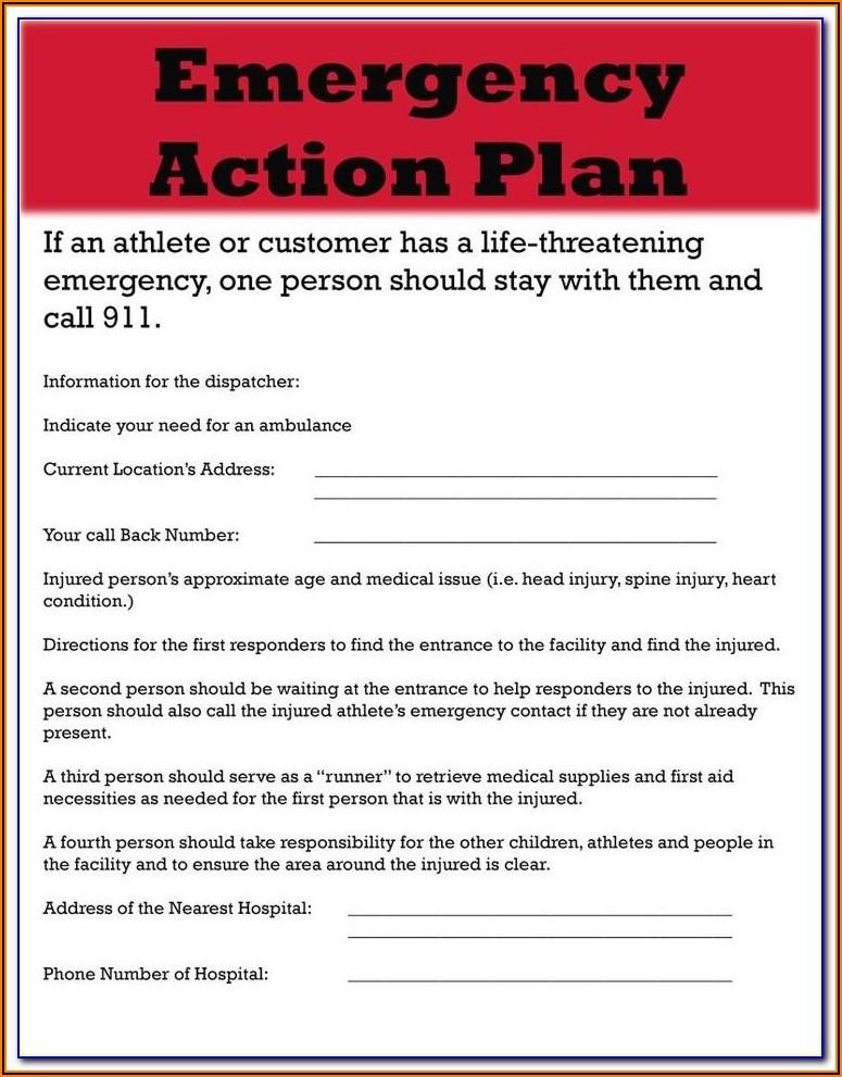 Hospice Emergency Preparedness Plan Template