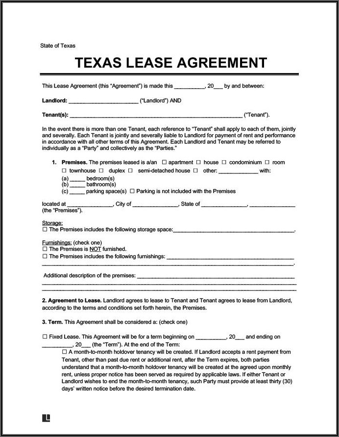 House Lease Purchase Agreement Form