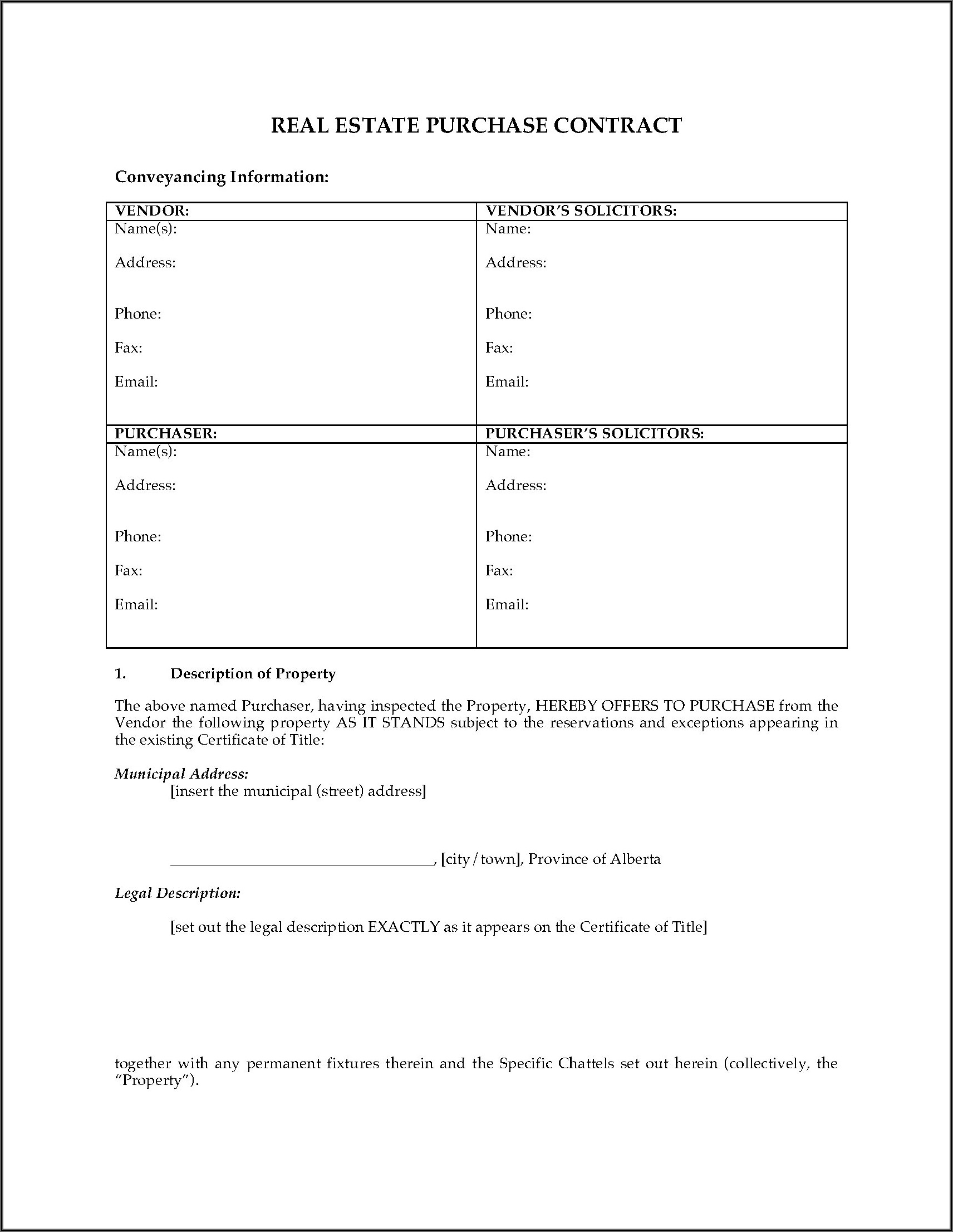 House Sale Purchase Agreement Form Nz