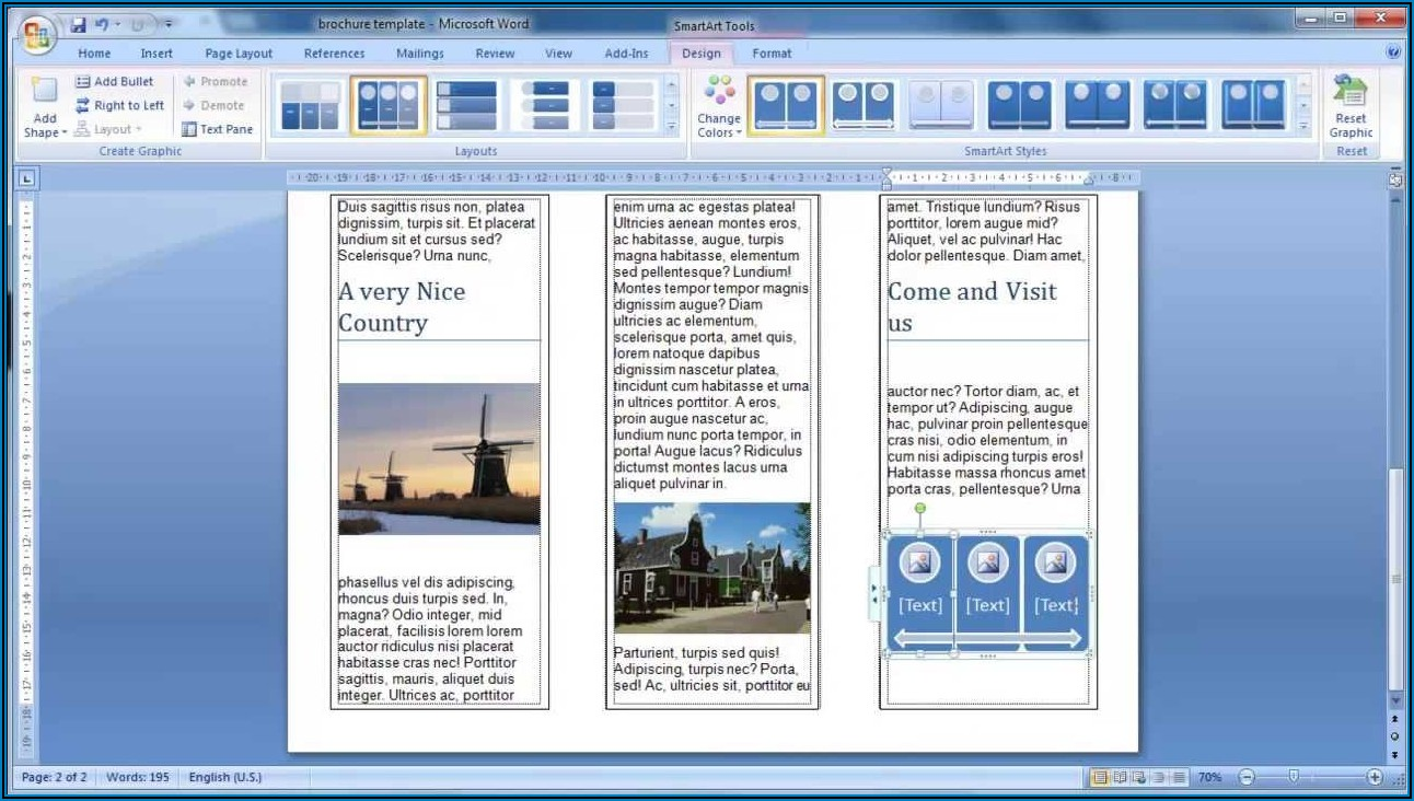 How To Make A Trifold Brochure In Word 2007