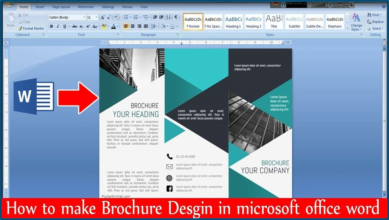 How To Make A Trifold Brochure In Word 2013