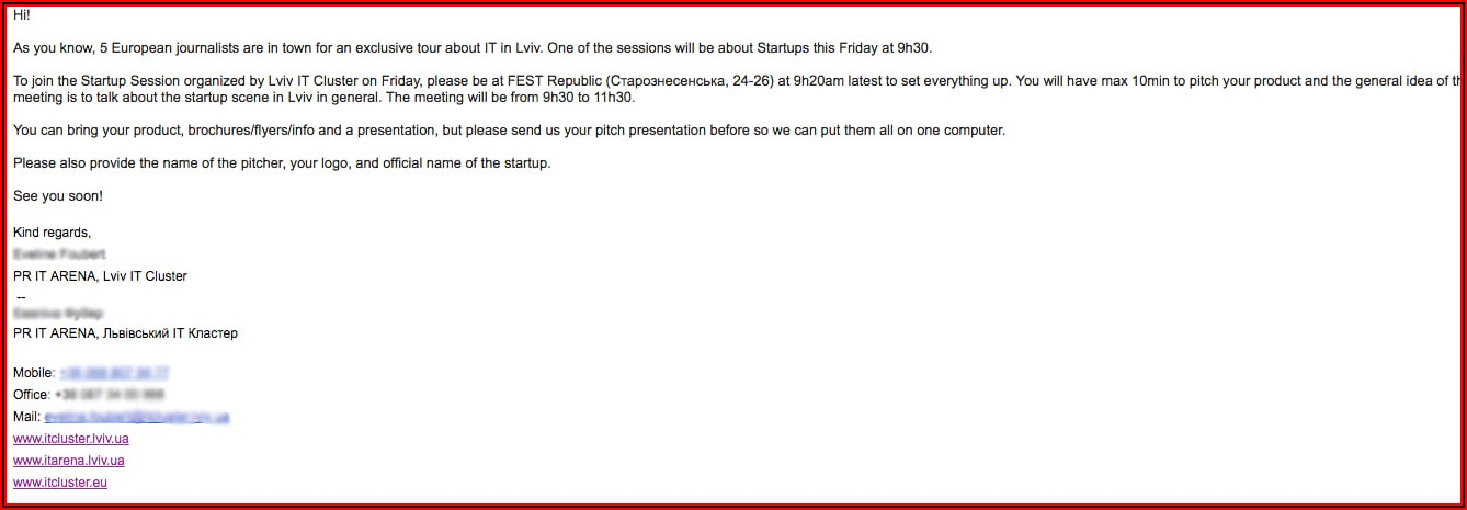 Informal Team Lunch Invitation Email Template