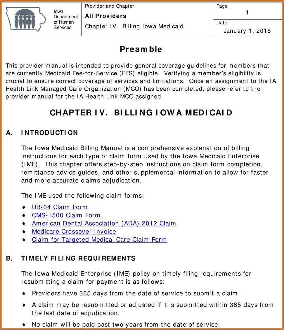 Iowa Medicaid Mileage Reimbursement Form