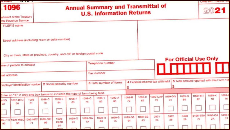 Irs 1096 Form 2020 Mailing Address