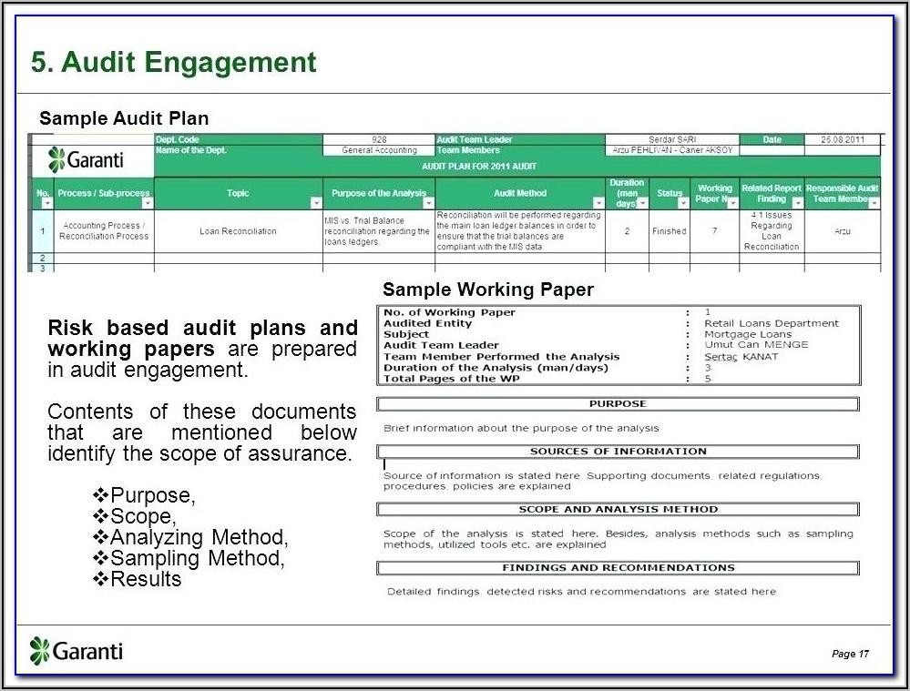 It Audit Plan Template