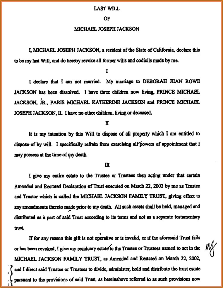 Kansas Last Will And Testament Template