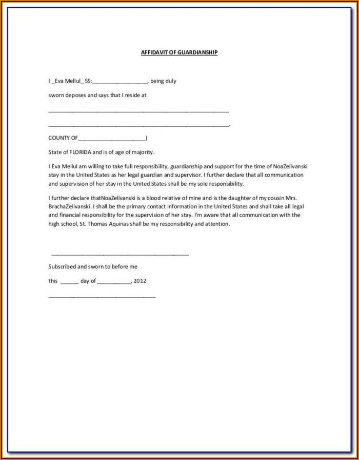 Kentucky Temporary Guardianship Agreement Form