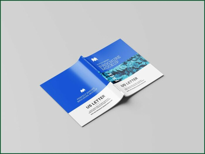 Landscape Brochure Mockup Free Download