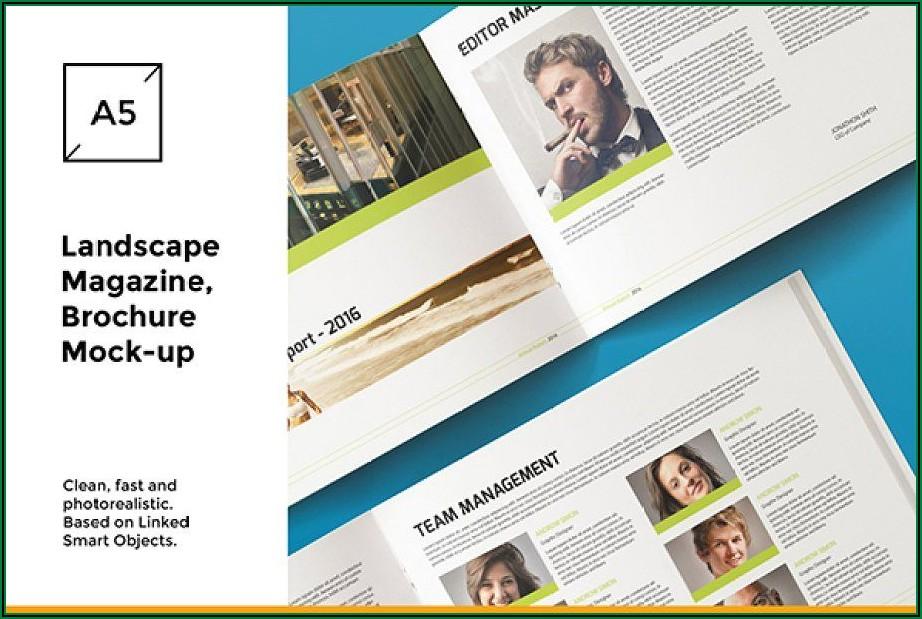 Landscape Brochure Mockup Psd Free Download