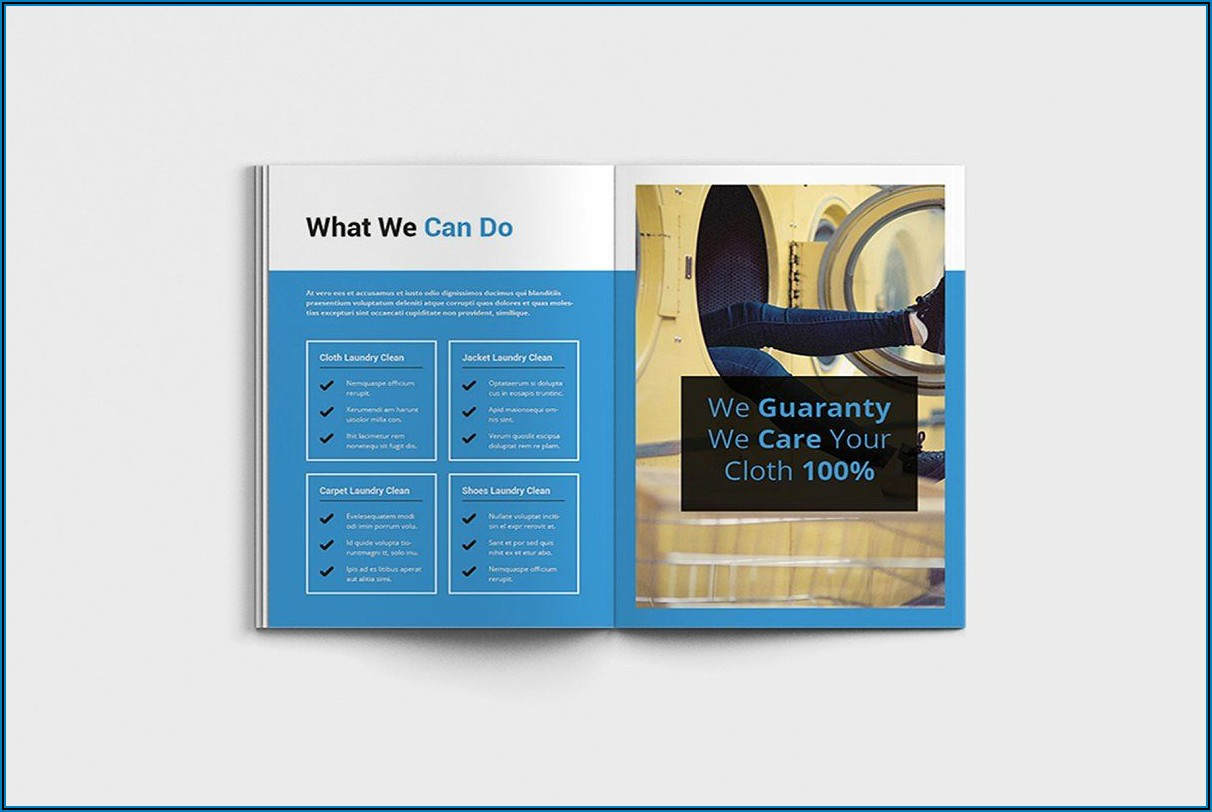 Laundry Brochure Template Free