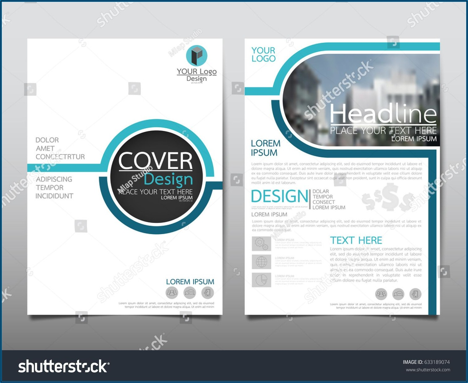 Leaflet Background Design Vector