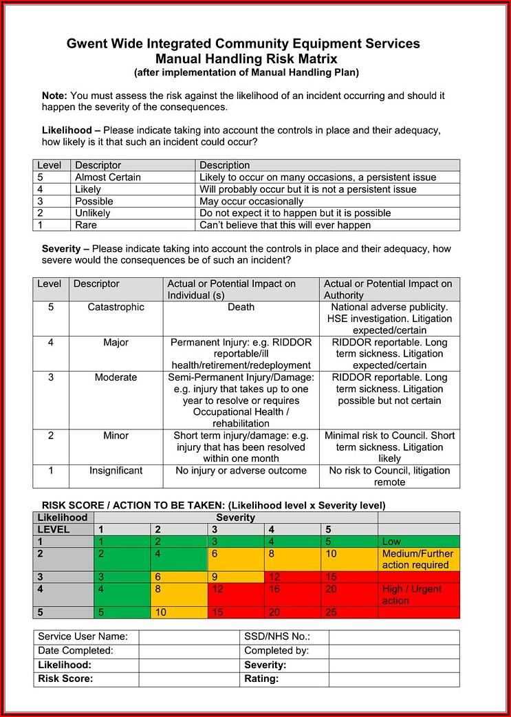 Legionella Risk Assessment Template Dental Practice