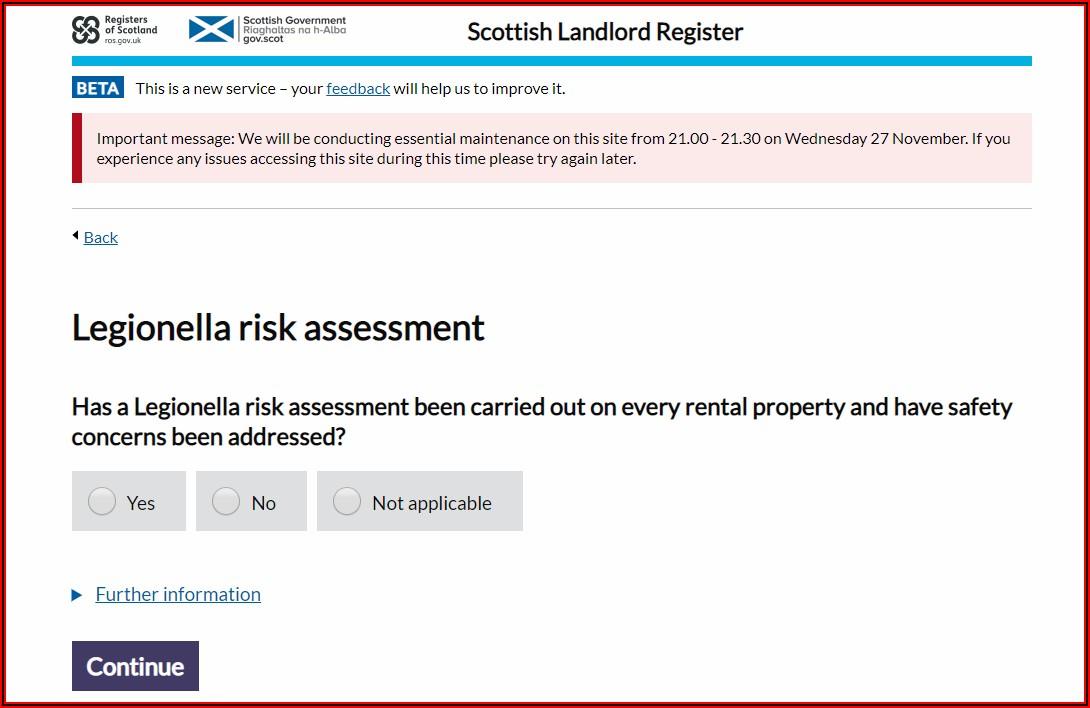 Legionella Risk Assessment Template Scotland Free